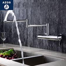 bathroom sink faucets folding free rotatable hose spray single side handle chrome polish solid brass wall