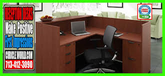 used reception desks on now houston texas