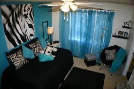 Blue Zebra Print Bedroom Ideas