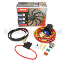spal fan wiring kit spal image wiring diagram basic spal fan relay harness kit on spal fan wiring kit