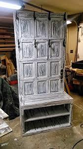 Old Door Coat Rack And Bench Magnificent Amazon Repurposed Wooden Door Hall Tree Entryway Or Mud Room