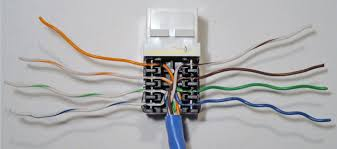 how to install an ethernet jack for a home network Rj45 Wall Plate Wiring Diagram completed cat5e ethernet jack wire punchdown rca rj45 wall plate wiring diagram