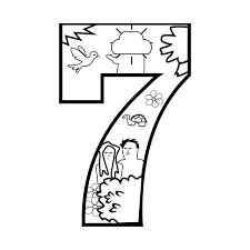 Limited Edition Exclusive Creation Day 7 Coloring Page Creation