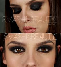 black smokey eye makeup tutorial 50 shades of grey makeup smashinbeauty
