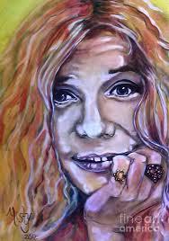 Janis Joplin 1 Painting by Misty Smith