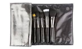beaute basics pro brush set with silver case 24 piece beaute basics
