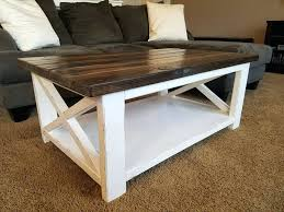 white rustic x coffee table projects bernie and phyls lift top full size