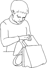 Small Picture coloring page of a boy packing his backpack Coloring Point