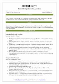 Best Buy Resume Examples Computer Sales Associate Resume Samples Qwikresume