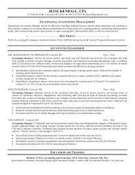 Resume Template Accounting Manager Professional Resume Templates