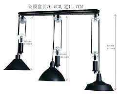 adjustable pendant lighting. Pendant Light With Pulley Adjustable Lighting Rise Fall Cream Ceiling Length Lights Diy L