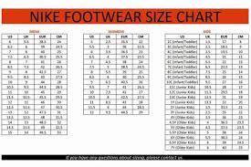 Nike Toddler Shoe Size Chart Nike Size Chart Toddler Bedowntowndaytona Com
