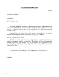 Cover Letter To Send Resume Resume Letter Directory