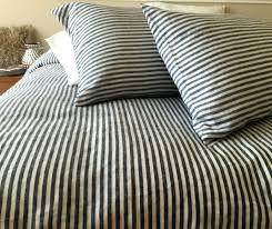 vintage cover sham red ticking stripe duvet covers cver mngmery uphlsered headbard pery