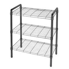 3 tier adjule wire shelving with extra connectors for