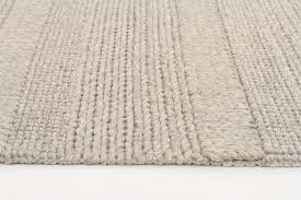 scandinavian grey chunky knit floor rug