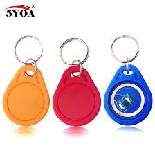 <b>10pcs 13.56MHz IC M1</b> S50 Keyfobs Tags Access Control RFID Key ...