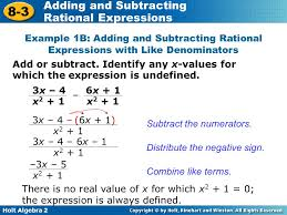 adding subtracting rational expressions like adding and subtracting rational expressions ppt video online