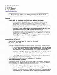 Resume Template Engineer Mechanical Engineering Resume Templates Inspirational Best 18