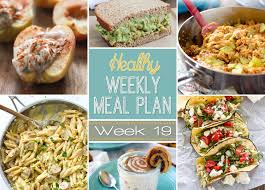 Planned Meals For A Week Healthy Weekly Meal Plan 19