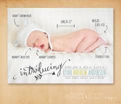Print Baby Announcement Cards Baby Birth Announcement Handwritten Stats Birth