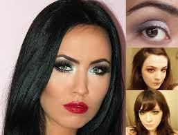 smokey eye makeup tutorial for blue eyes brown green