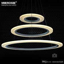 3 rings circles modern led chandelier pendant lights lighting for dining room white acrylic led pendant lamp contemporary ceiling light fixtures kitchen