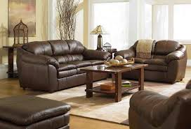 living room design ideas with brown leather furniture