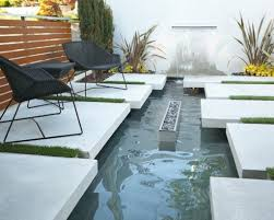 modern concrete patio designs. Concrete Deck With Stylish Pond For Modern Outdoor Patio Design Black Chairs Designs R