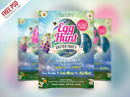 Easter Party Invitation Flyer Template Psd Psdfreebies Com