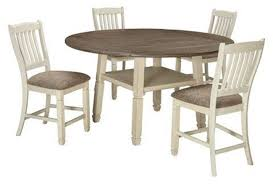 Bolanburg Round Drop Leaf Counter Height Table 4 Stools