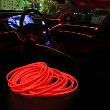 5M Linh Hoạt Dây EL Đèn Neon Dải Đèn Đèn Trang Trí Xe 12V LED Lạnh Ô Tô Đèn  Phong Cách Trang Trí Nội Thất
