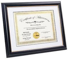 white certificate frame creativepf 11x14bk g black w gold certificate frame w white mat