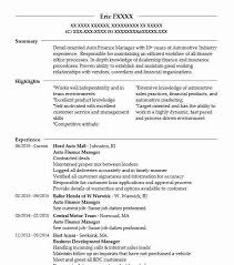 Insurance Manager Resume Auto Finance Manager Resume Sample Manager Resumes Livecareer