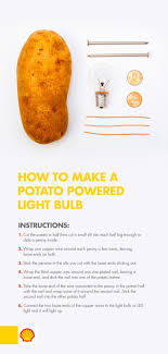 Potato Powered Light Bulb Project Need A Light Use Potato Power With This Science Experiment