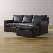 leather sectional sleeper sofa. Simple Leather Axis II Leather Right Arm Queen Sleeper Lounger Inside Sectional Sofa Crate And Barrel