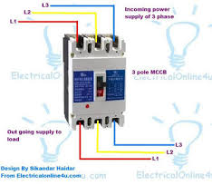 how to installing mccb (molded case circuit breaker) 3 pole and 4 pole 3 phase wiring diagram homes at 3 Phase Circuit Breaker Wiring Diagram