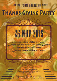thanksgiving party flyer 23 free thanksgiving flyers psd word templates demplates