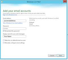 Windows 365 Office Configure Windows Live Mail For Office 365 Hosted Exchange