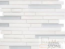 mugla white linear glass mix mosaic tiles