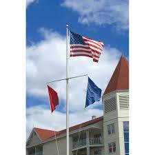 ground mounted nautical flagpoles marine flagpoles for marinas yacht clubs commercial residential boat docks and other marine settings