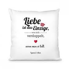 Spruch Liebe Ist Das Einzige Kissen Geschenkideede