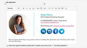 How To Create A Gmail Signature With Images Social Icons