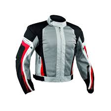 a pro eolo grey red summer motorcycle jacket
