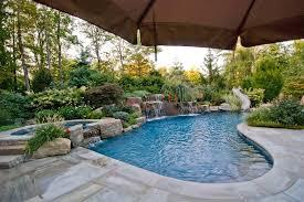 swimming pool landscaping ideas bergen