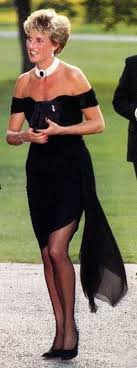 You can never go wrong in a black dress and pearls