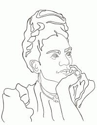 Frida kahlo vector portrait , young beautiful mexican woman with a traditional hairstyle. Frida Kahlo Coloring Pages Coloring Home