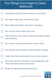 cleaning checklist unfuck your habitat
