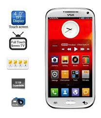 tuoch mobile buy vox v5555 four sim touch screen mobile with dual camera white