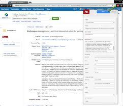 Mendeley Citation Management Software University Library